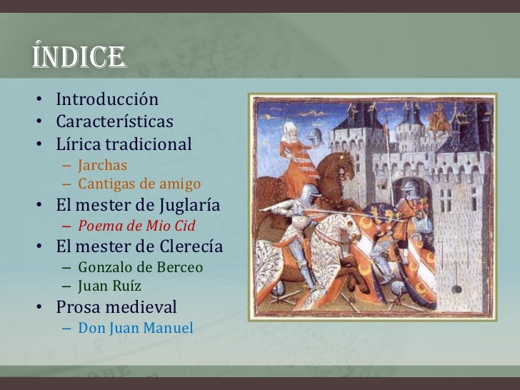 Literatura medieval (3º eso) Slide 2