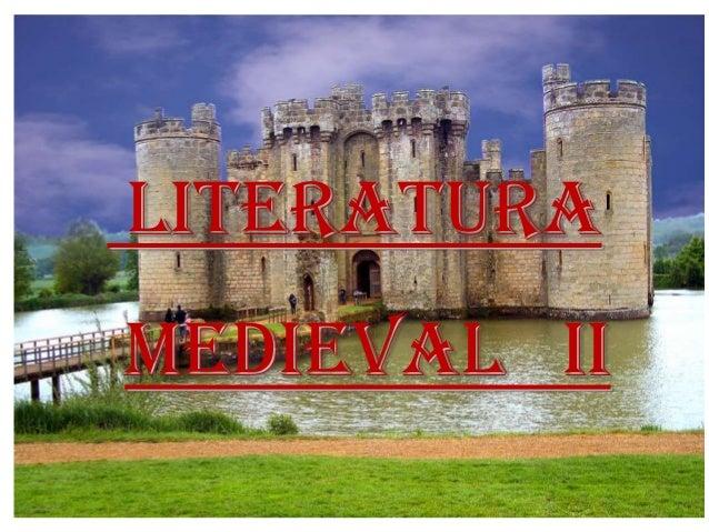 LITERATURA MEDIEVAL II