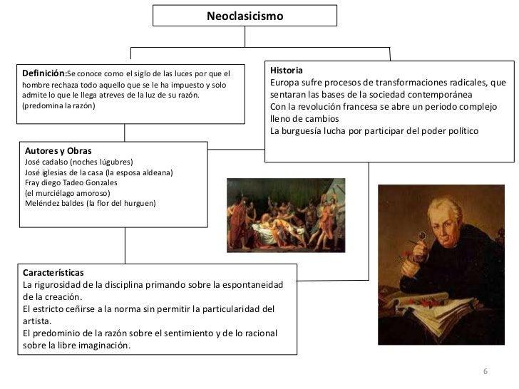 NeoclasicismoDefinición:Se conoce como el siglo de las luces por que el   Historiahombre rechaza todo aquello que se le ha...