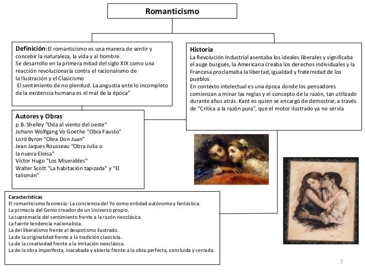 Romanticismo   Definición:El romanticismo es una manera de sentir y                          Historia   concebir la natura...