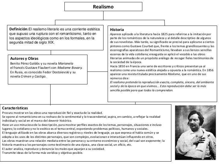Realismo     Definición:El realismo literario es una corriente estética               Historia     que supuso una ruptura ...