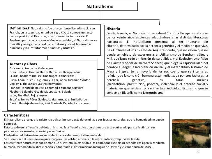 Naturalismo    Definición:El Naturalismo fue una corriente literaria nacida en            Historia    Francia, en la segun...