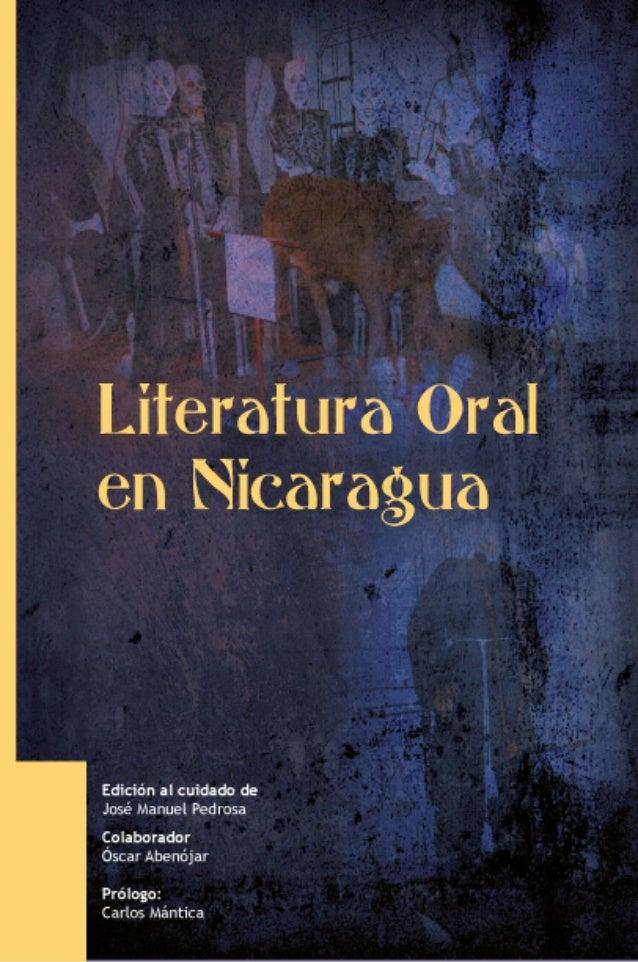 Alumnos de la Maestría en Lengua y Literatura                 Hispánica             de la UNAN-León     La Literatura Oral...