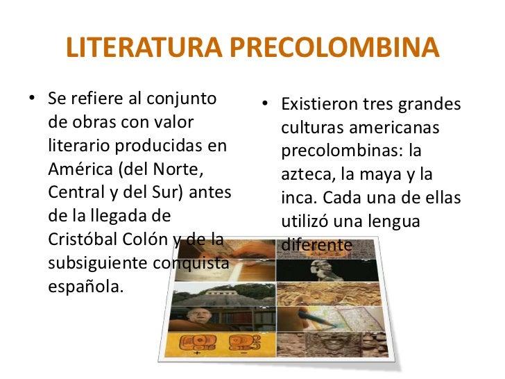 Literatura precolombina for Epoca contemporanea definicion