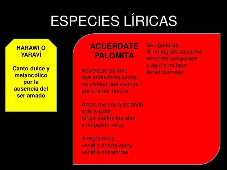AYA TAQUI  Composición       A LA MUERTE DEL INCA   lírica que  lamenta la                        ATAHUALPA  muerte de una...