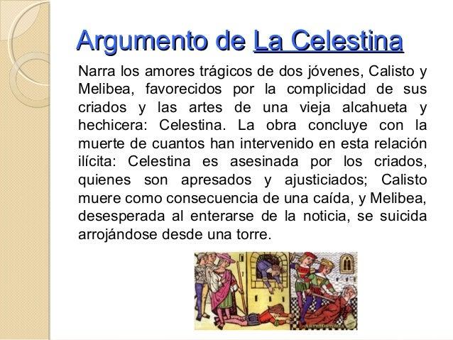 Literatura prerrenacetista teatro for La celestina argumento