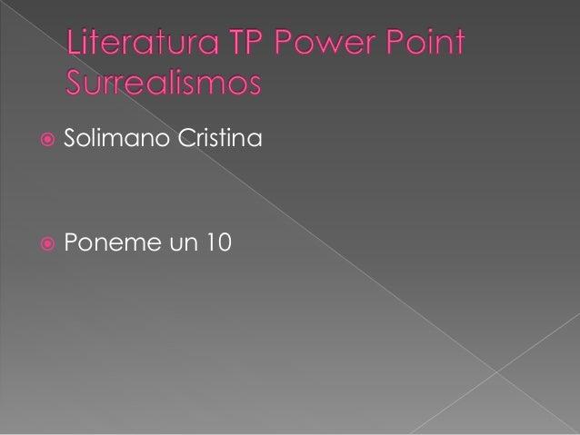  Solimano Cristina  Poneme un 10