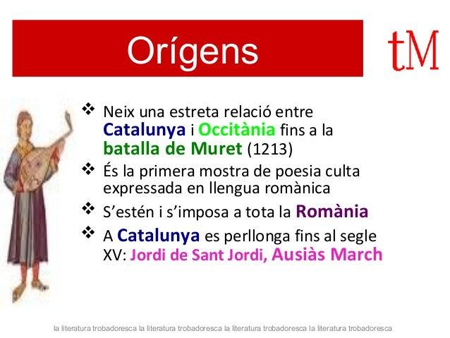 LA LITERATURA TROBADORESCA  Slide 3