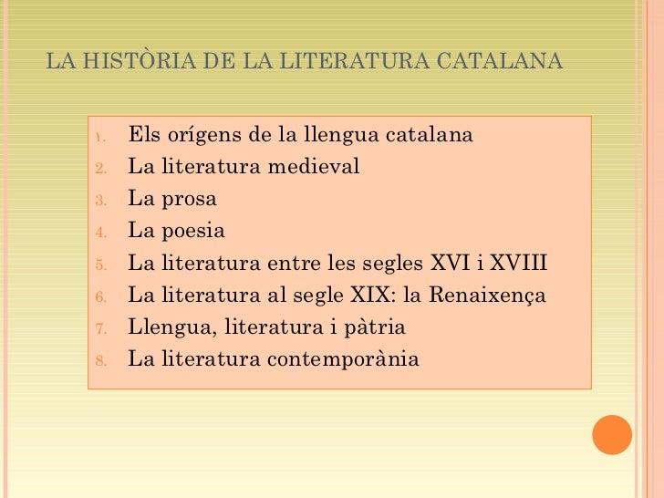 Història de la literatura catalana (Autora: Mònica Herruz) Slide 2