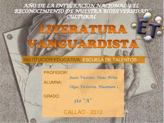 AÑO DE LA INTEGRACION NACIONAL Y ELRECONOCIMIENTO DE NUESTRA BIODIVERSIDAD                CULTURAL  INSTITUCIÓN EDUCATIVA:...