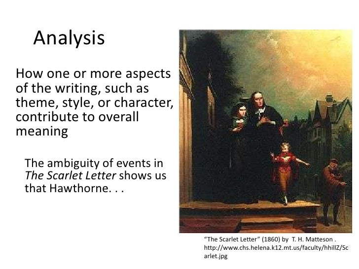 an analysis of the theme of ambiguity in hawthornes the scarlet letter 2 in what ways could the scarlet letter be read as a commentary on the era of american history it describes how does hawthorne's portrayal of europe enter into this commentary could the book also be seen as embodying some of the aspects it attributes to the nation in which it was written.