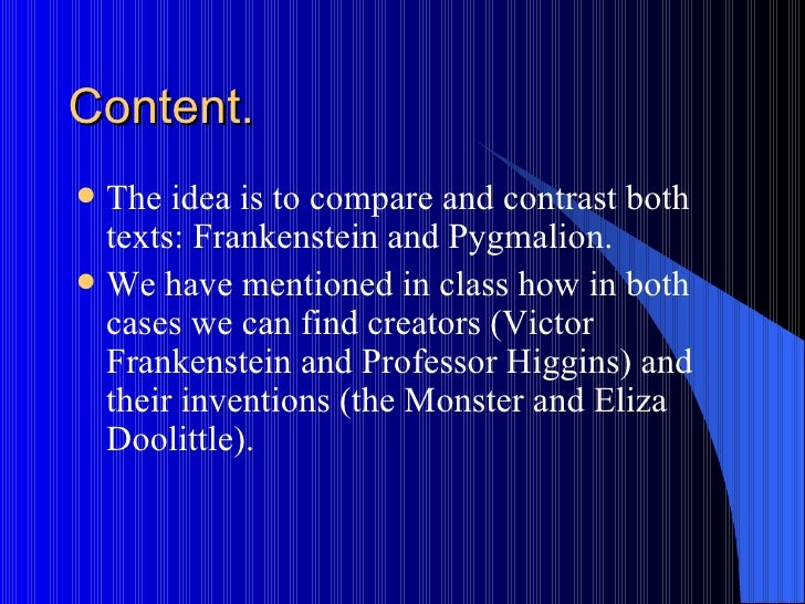 similarities between victor frankenstein and the monster essay Frankenstein & dracula: character similarities and differences the title character victor frankenstein studied the frankenstein's monster and count dracula.