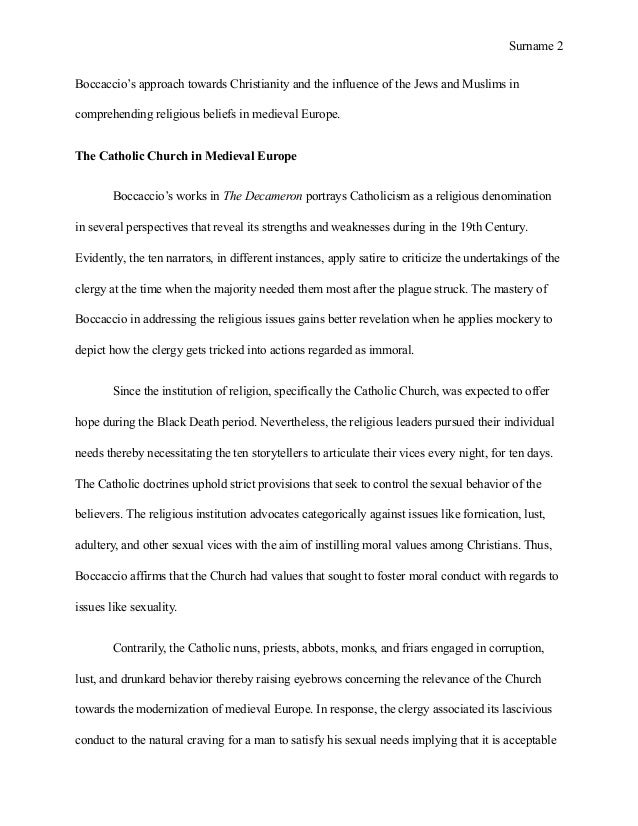 essay on the catholic church The catholic church was the single most powerful and influential force throughout virtually all of european history it was the unifying factor of europe following.