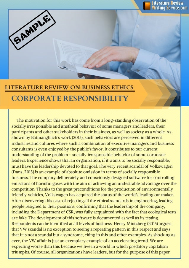 Literature review company