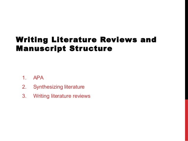 apa style literature review outline