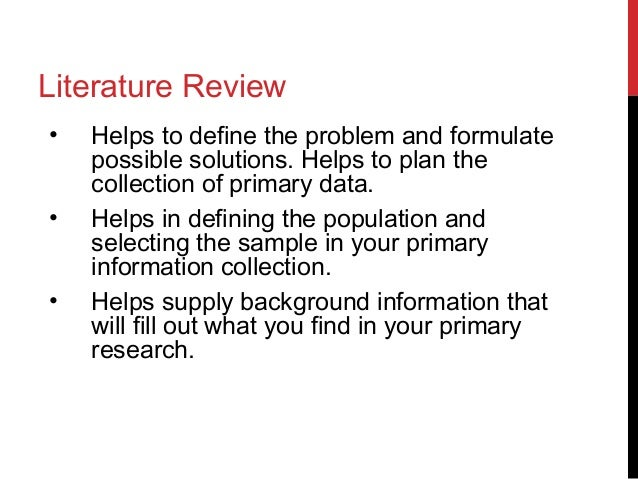 How to write a literature review apa style example