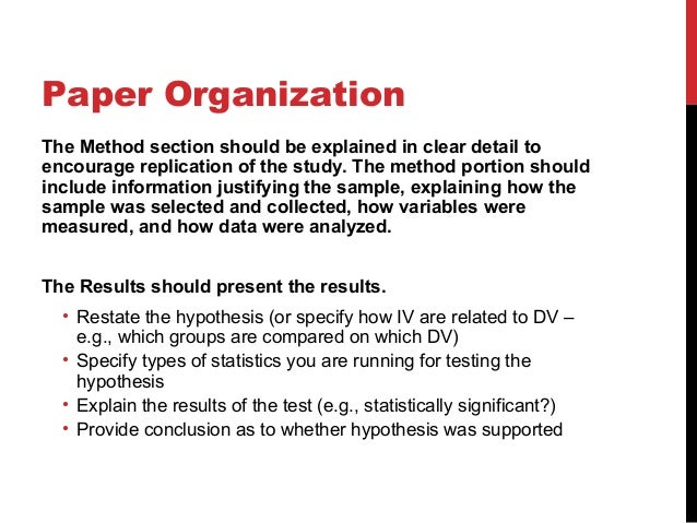 Guidelines in writing a research paper or thesis