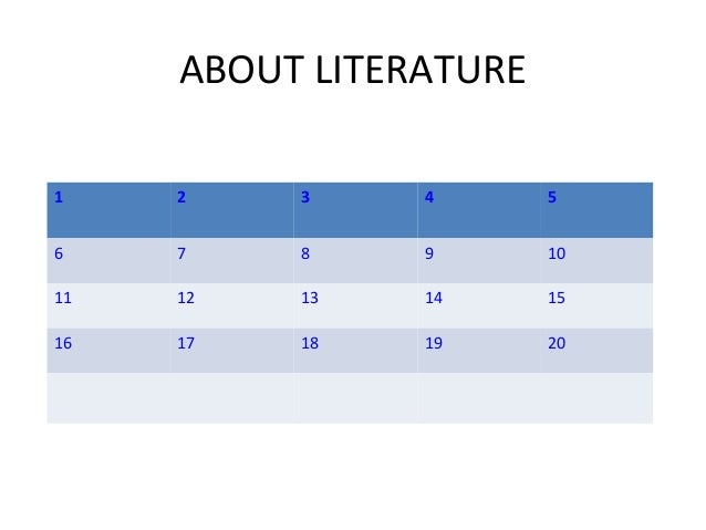 ABOUT LITERATURE 1  2  3  4  5  6  7  8  9  10  11  12  13  14  15  16  17  18  19  20