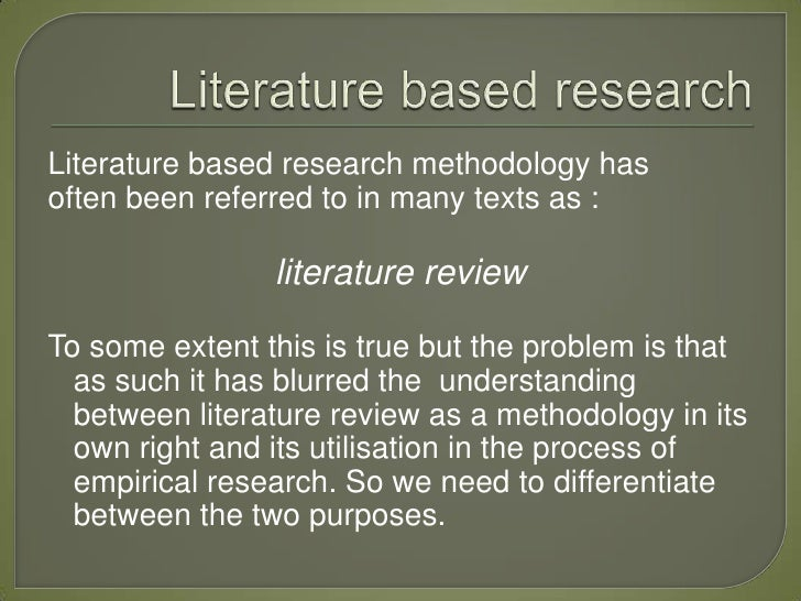 Methodology of literature