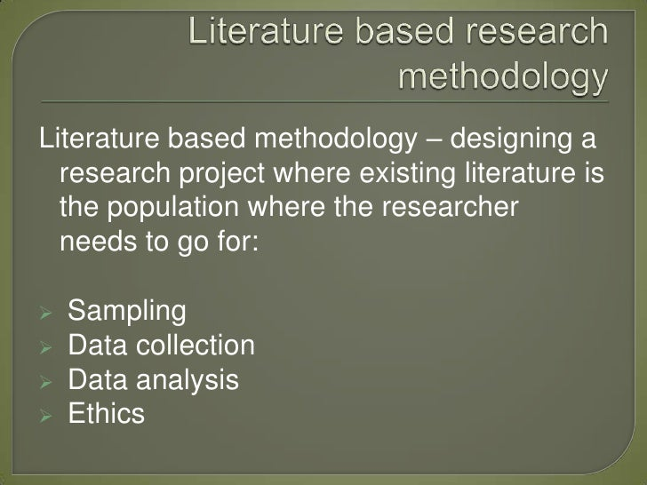 Literature Review Methodology | Literature Review Project Guidelines