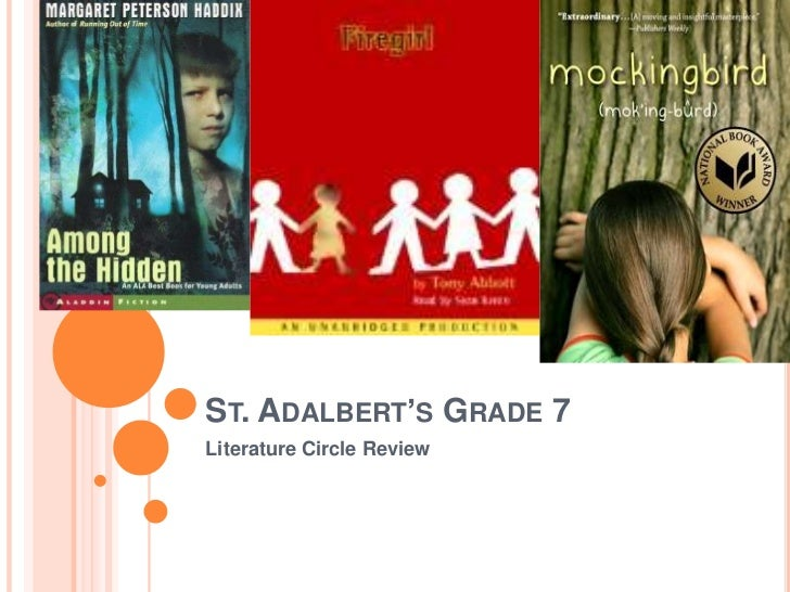 ST. ADALBERT'S GRADE 7Literature Circle Review