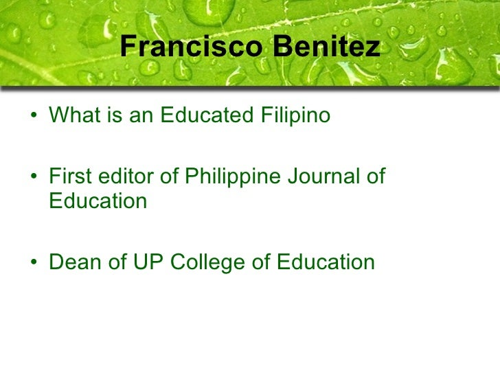 educated filipino essay Essays related to what is an educated person 1 educated persons responsibilities to society educated persons are more likely to get a well-paying job, and .
