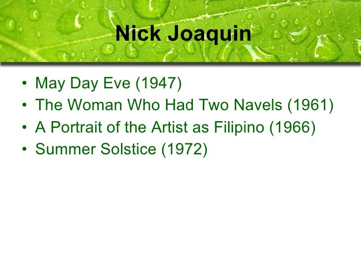 May day eve by nick joaquin essay