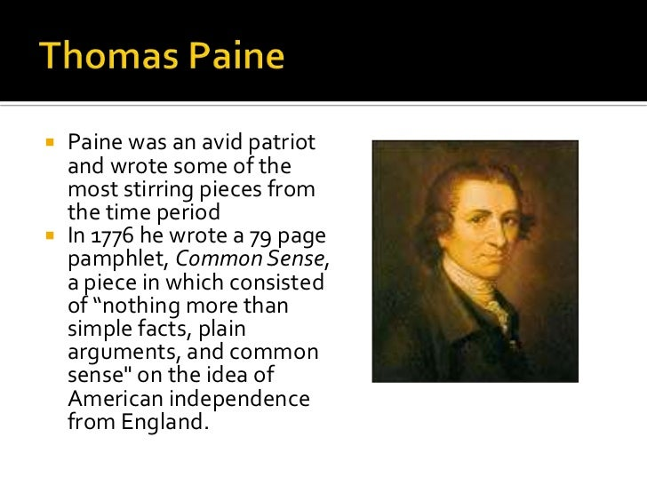 an analysis of thomas paines pamphlet common sense