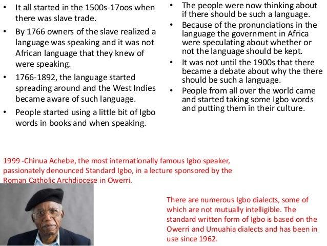 Things Fall Apart- Language