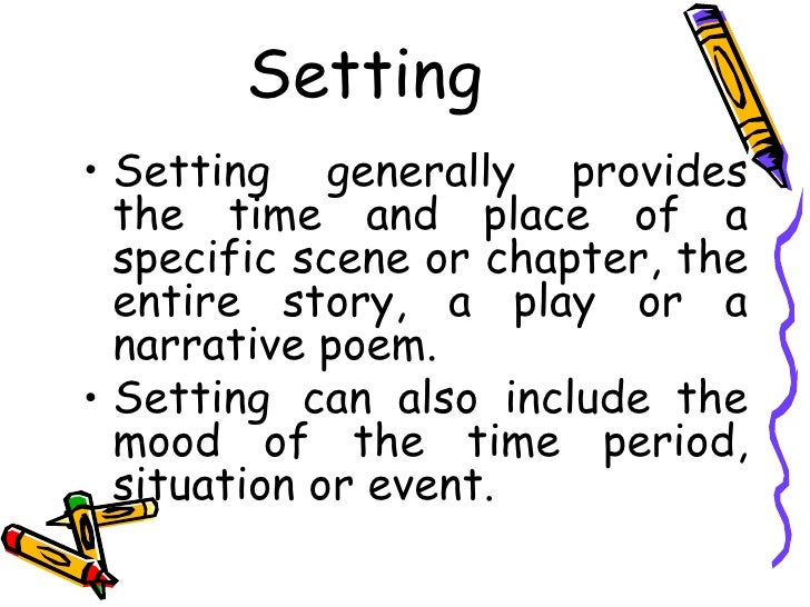 what is the meaning of setting in literature
