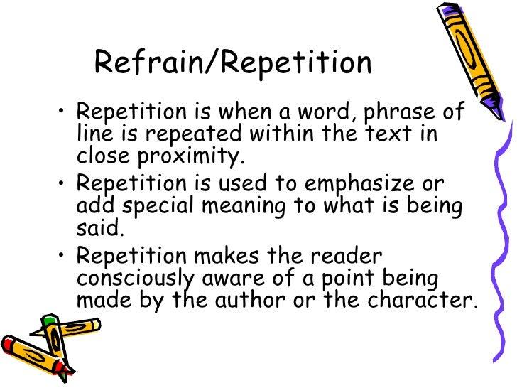 Literature Ii Elements Of Jpg 728x546 Examples Refrain In