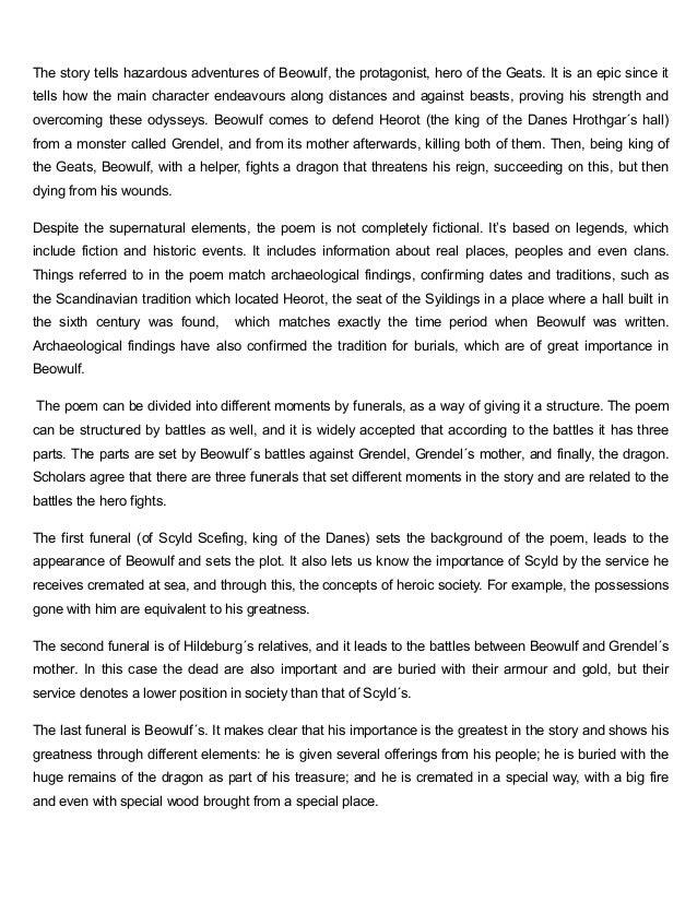 Top Beowulf essay Topics