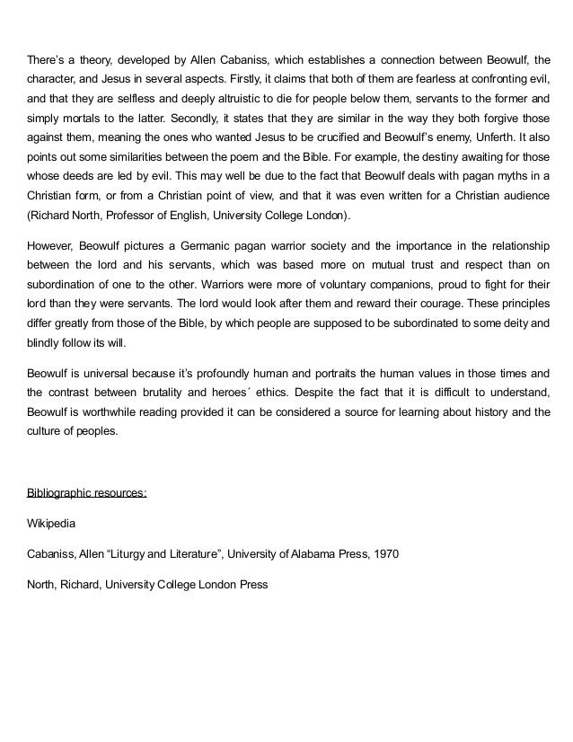 beowulf 3 essay Read beowulf free essay and over 88,000 other research documents beowulf all throughout history there have been many heroes a hero can be anywhere, they can be.