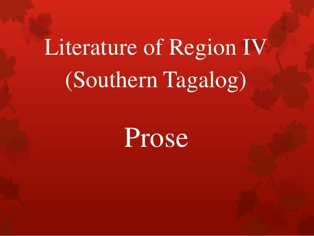 Literature of region iv (southern tagalog)