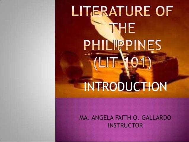 INTRODUCTION MA. ANGELA FAITH O. GALLARDO INSTRUCTOR