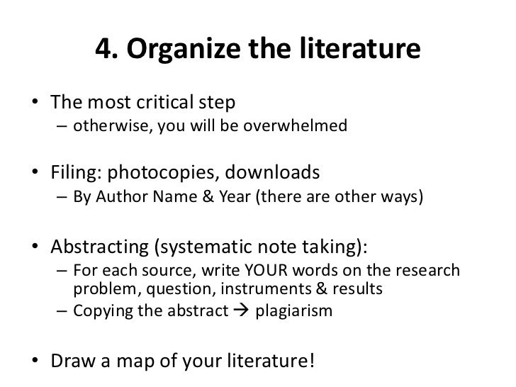 Literature Review: Managing Information Overflow: MindMapping, Citation Mapping, Papers, EndNote