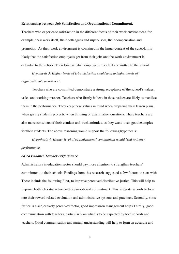review of study on relationship satisfaction The relationship between job satisfaction  study and understand the factors influencing employee literature review employee satisfaction.