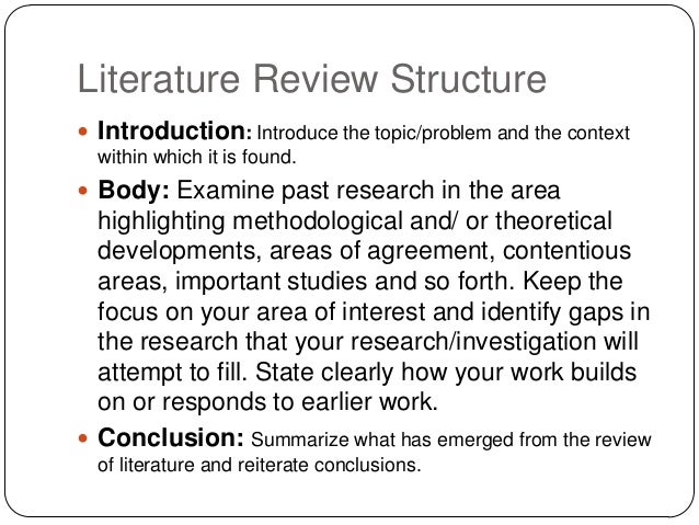 lit review template - crp literature review