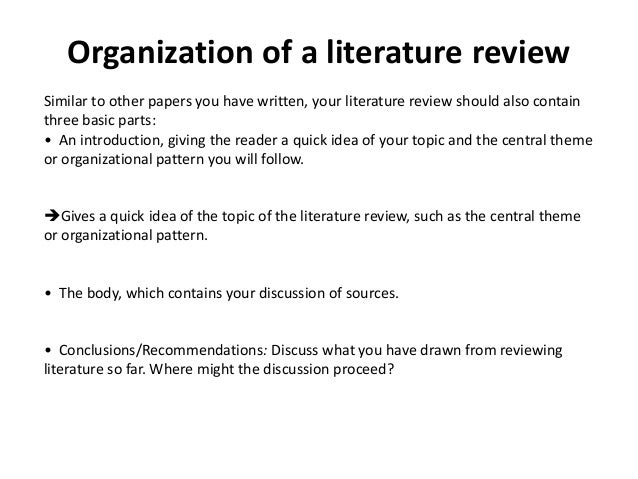 how to write an introduction for a literature review paper Organizing your social sciences research paper: 5 the literature review the introduction toggle when you begin to write your literature review section.