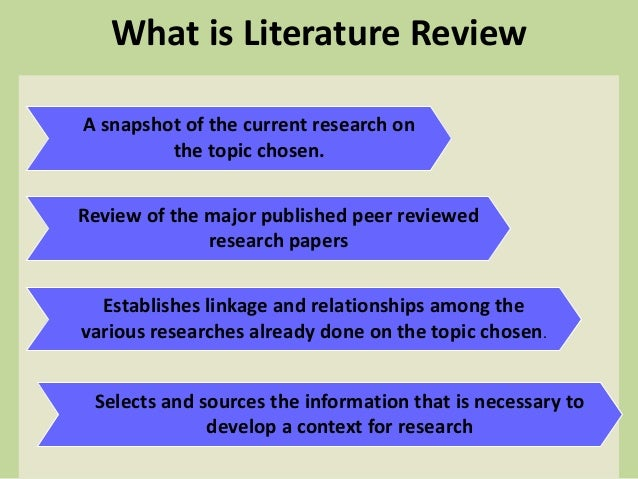 Literature review help doing