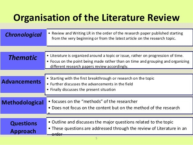Dissertation review of literature