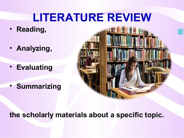 Literature review on reading recovery