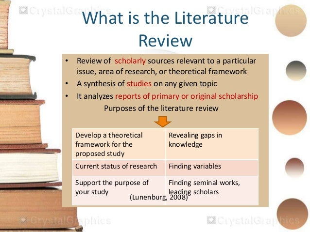 how to find literature review