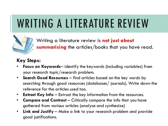 literature review write