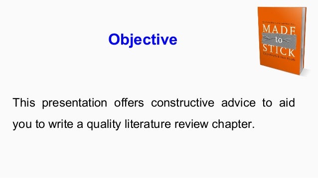 how to start writing literature review A guide to writing literature reviews in political science and public to write a literature review the best place to start is with google scholar's.