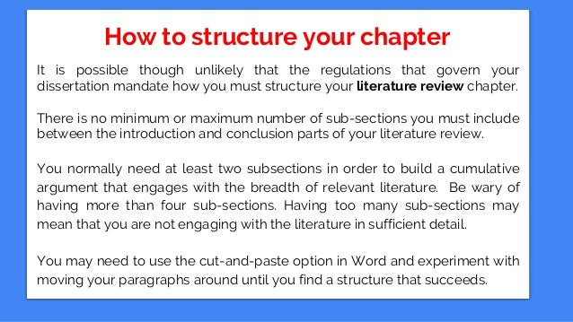 Dissertation conclusion structure user manuals array how to write a dissertation literature review chapter rh slideshare net fandeluxe Images