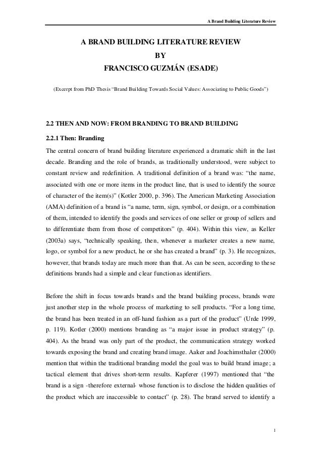 Critical literature review dissertation