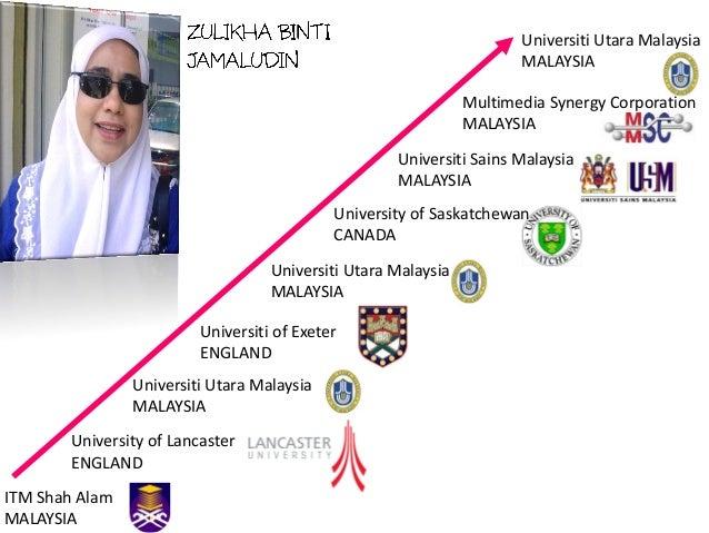 ITM Shah Alam MALAYSIA University of Lancaster ENGLAND Universiti Utara Malaysia MALAYSIA Universiti of Exeter ENGLAND Uni...