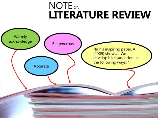 HOT slides - Literature review