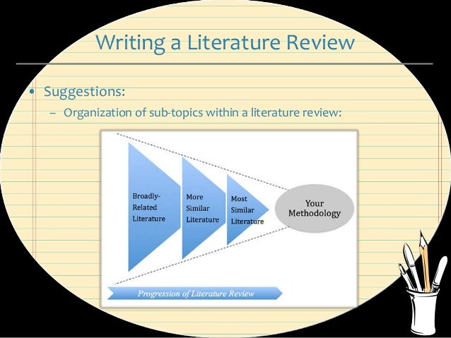 writing literature reviews Look for other literature reviews in your subject area to see how they are written need help writing the literature review vcu's writing center consultants can help you plan, develop, and organize your literature review and a follow-up appointment will help you edit, proofread, and revise it.